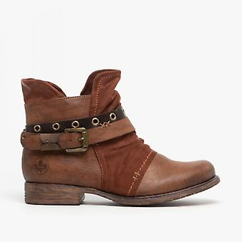 Rieker 90268-22 damer fotled stövlar Brown