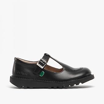 Kickers Kick T Girls Leather Shoes Black