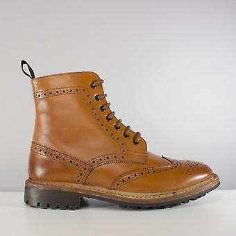 Catesby Shoemakers Windsor Mens Goodyear Welted Derby Boots Tan