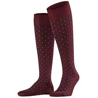 Falke Sensitive Jabot Knee High Socks - Barolo Burgundy