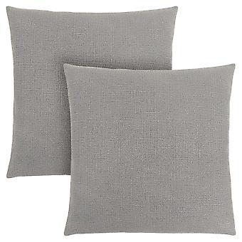 "18"" x 18"" Light Grey, Patterned - Pillow 2pcs"