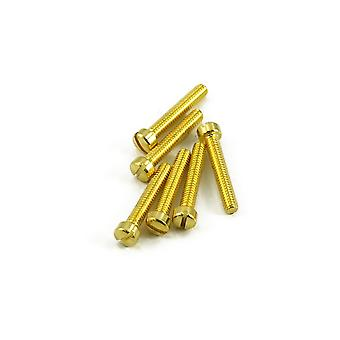 WD Music humbucker Pole stuk schroef goud (zak van 12)
