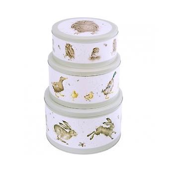 Diseños de Wrendale Set de 3 latas de la torta