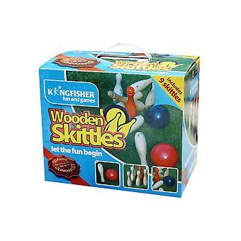 Kingfisher Wooden Skittles Set