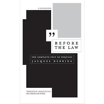 Before the Law by Jacques Derrida