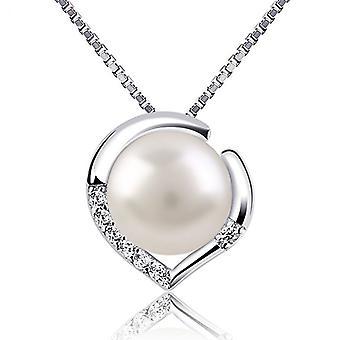 925 Sterling Silber faux Perle Halskette & Ohrringe set