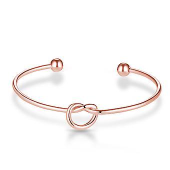 Steg guld kærlighed knude cuff armbånd
