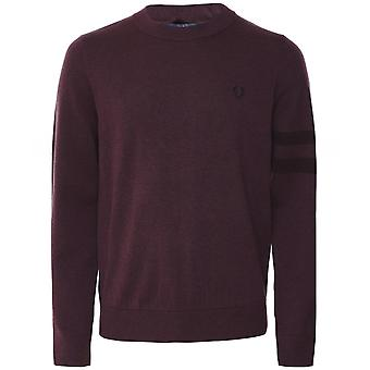 Fred Perry Tipped Sleeve Jumper K7505 163
