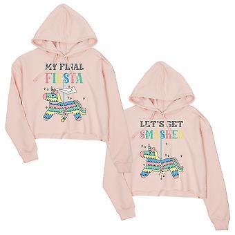 Final Fiesta Smashed Pinata BFF Matching Sweatshirts Gift Pink Cute