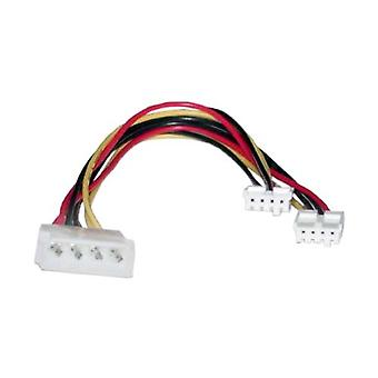 Molex Power Splitter Cable 2 x 3.5'F - 1 x 5.25'M 30cm