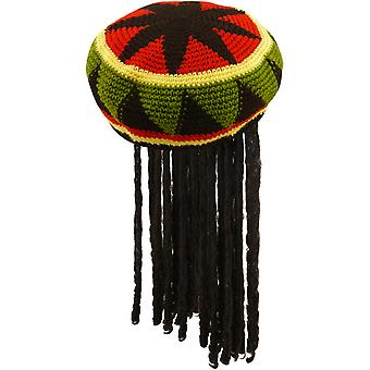 Henbrandt Adults Unisex Jamaican Hat With Hair