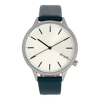 Simplify The 6700 Series Strap Watch - Teal/Silver