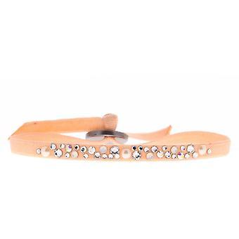 Bracciale intercambiabile A36684 - tessuto rosa cristalli Swarovski donna Bracciale
