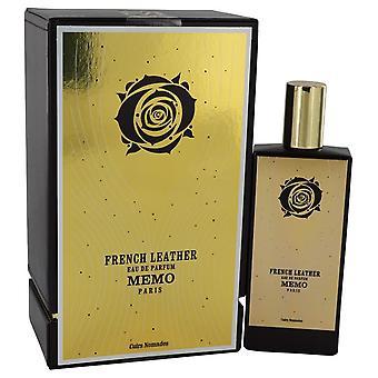 French leather eau de parfum spray (unisex) by memo 541291 75 ml