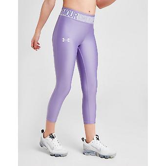New Under Armour Girls' Logo Tights Junior Purple