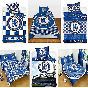 Chelsea FC fútbol parche solo edredón y funda de almohada Set