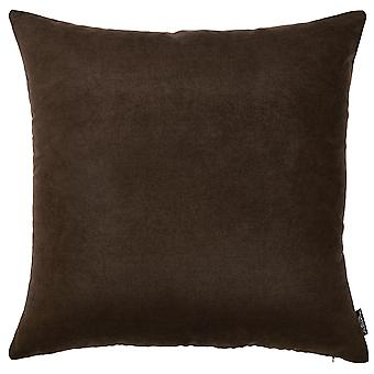 Set of 2 Brown Brushed Twill Decorative Throw Pillow Covers