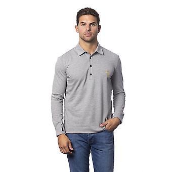 Men's Billionaire Grey Long Sleeve Polo