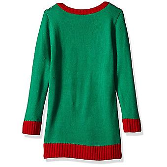 Blizzard Bay Girls Ugly Christmas Sweater Tunic, Jelly Bean Combo, L 14