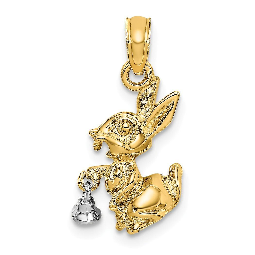 High Polish 14K Yellow Gold 3D Star Airplane Charm Aircraft Ascending Pendant Cuban Chain Necklace