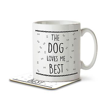 The Dog Loves Me Best - Mug and Coaster