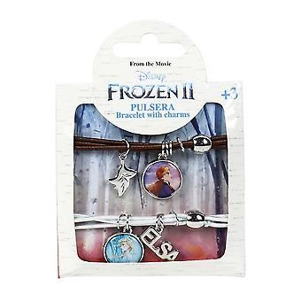 Frozen 2, 2x Armband - Brun och Silver