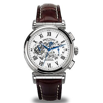 Armand nicolet ar2 a424aaa-ag-p974mr2 automatic chronograph watch for Analog Quartz Men with cowhide bracelet A424AA-AG-P974MR2