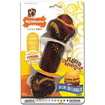 Nylabone Strong Chew Bacon Cheesburger M (Dogs , Toys & Sport , Chew Toys)