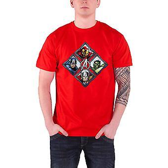 T Shirt Diamond mścicieli Hulk Marvel Thor Oficjalna męskie czerwień