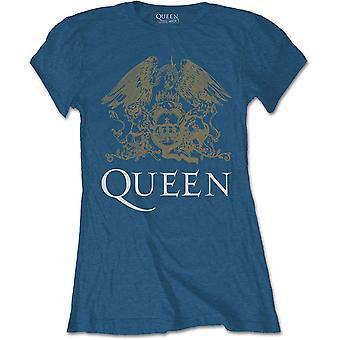 Damen Königin Freddie Mercury Blue Crest Offizielles T-Shirt weiblich