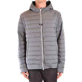 Herno Ezbc034050 Men's Grey Nylon Outerwear Jacket