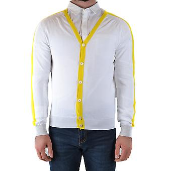Daniele Alessandrini Ezbc107220 Men's White Cotton Cardigan