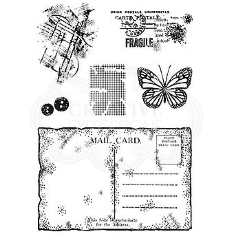 Woodware Clear Stamp Set - Old Postcard