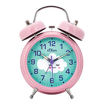 s.Oliver Alarm Clock Analog Alarm Light Kids Girl Cloud SO-3960-CQ