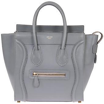 Celine Micro Luggage Handbag | Smooth gray Calfskin
