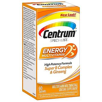 Centrum specialist complete multivitamin: energy, tablets, 60 ea