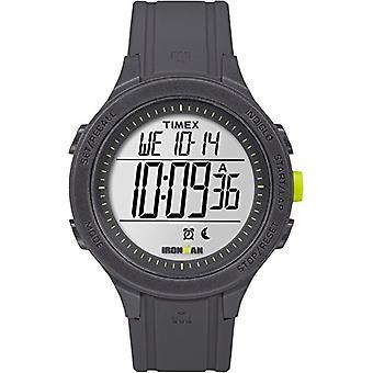Timex unisex TW5M14500-Erwachsenen-Uhr mit Quarzwerk, schwarzes Zifferblatt und schwarzem Kunstharz Riemen