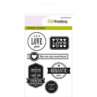 CraftEmotions Clear Stamps A6 - Love lyrics (English)