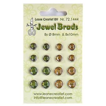 Leane Creatief Jewel Brads Green & Gold