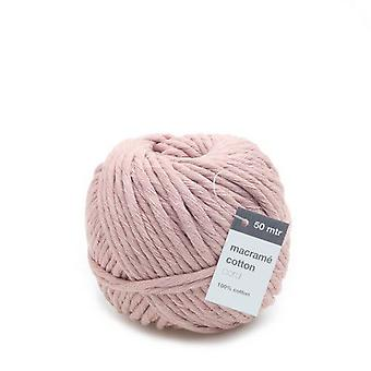Vivant Macramé cord cotton 50m x 5mm - pink