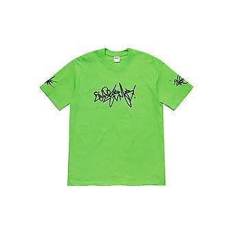 Supreme Rammellzee Tag Tee Green - Clothing