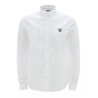 Kenzo Tiger Logo Baumwolle weißes Hemd