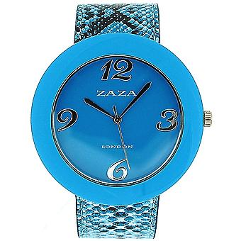 Zaza London Crocodile Effect Blue Pu Strap & Dial Ladies Fashion Watch LLB855