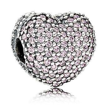 Pandora rosa Pave abrir mi corazón Clip encanto - 791427PCZ