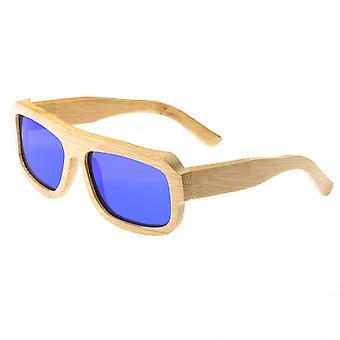 Earth Wood Daytona Polarized Sunglasses - Khaki/Blue