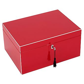 Giftcompany Tang, jewellery box L with lock red 31x15x23 cm