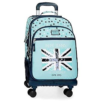 Pepe Jeans Heart Backpack 44 centimeters 30.49 Blue (Azul)