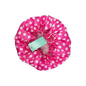 Polka Dot Spotty Shower Cap ~ Pink