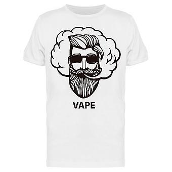 Vape Bearded Man Drawing Tee Men's -Kuva Shutterstock