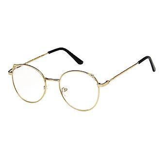 Anti Blue Light Glasses, Cat Ears - Gold